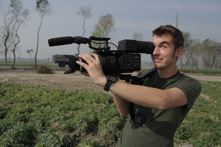 Journalism student documenting his study abroad experience in africa.