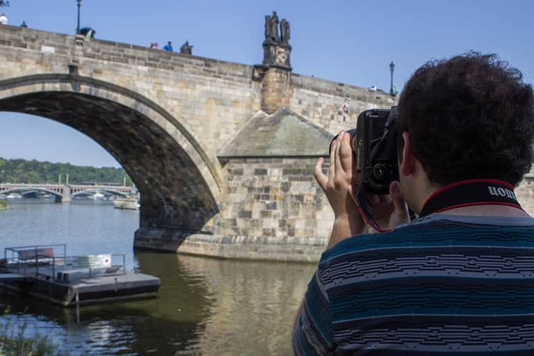 Journalism student documenting his study abroad experience in Europe.