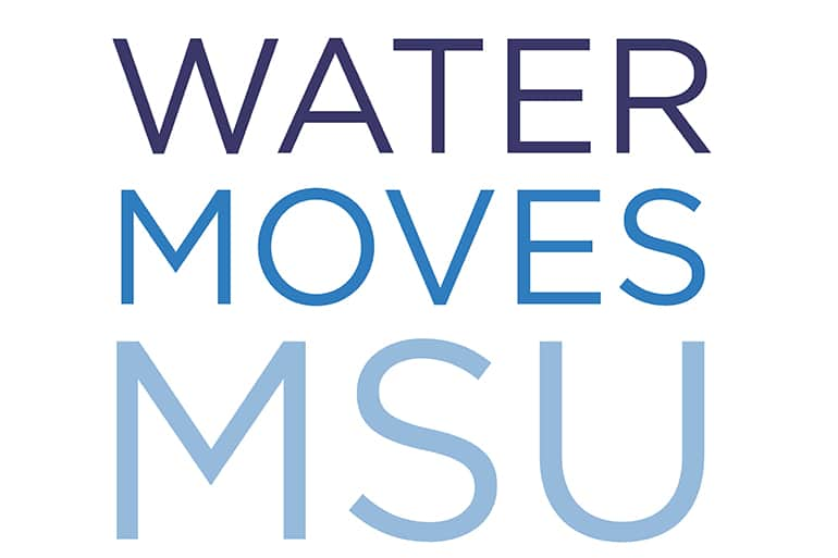 MSU Water Moves logo