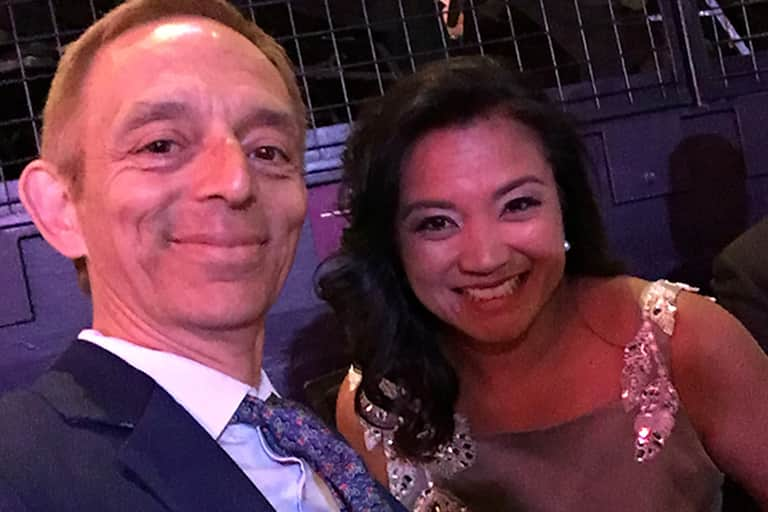 Castellucci and Zeldes at the Emmy Awards