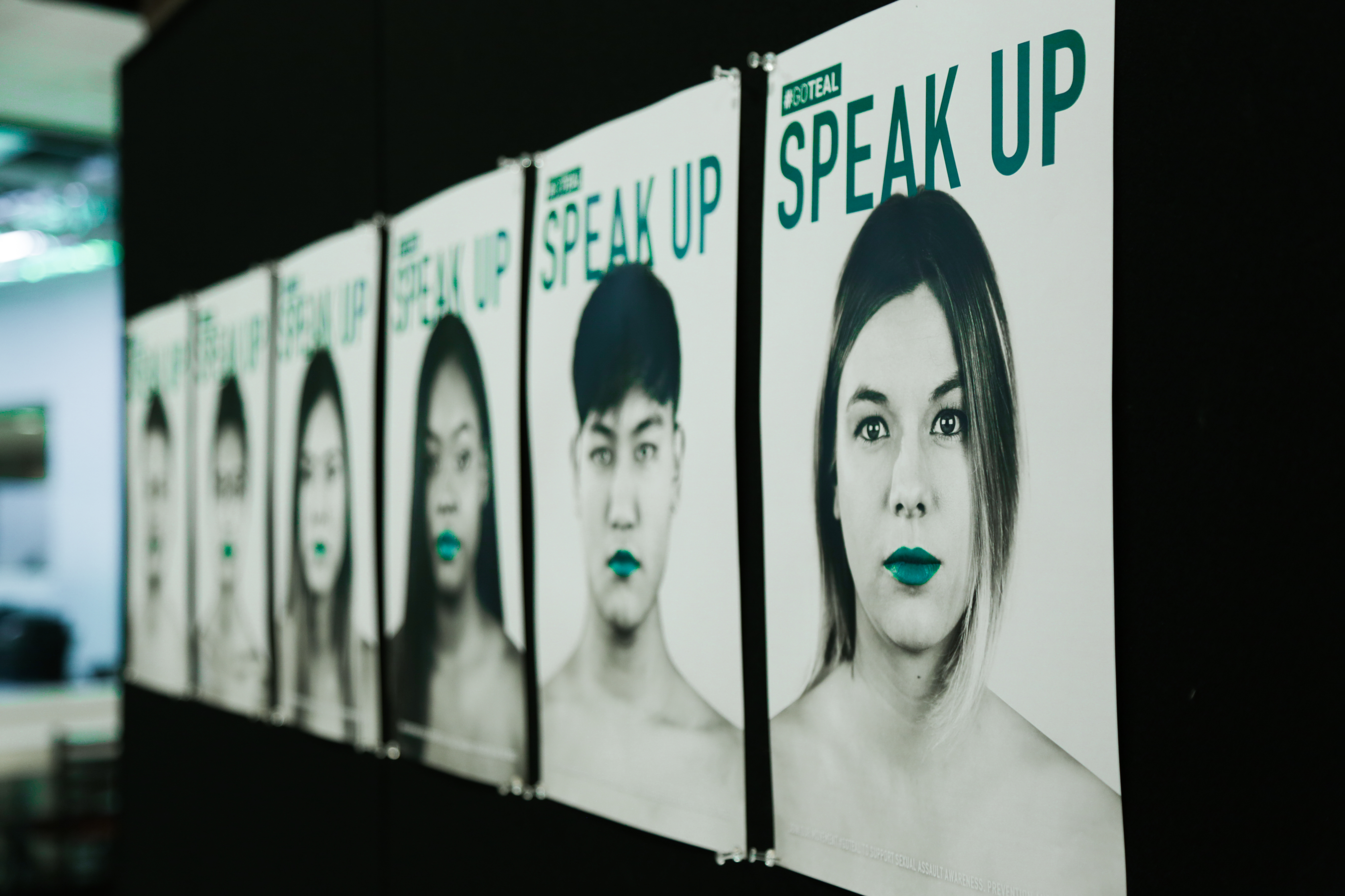 campaign images of speak up, a campaign produced by students