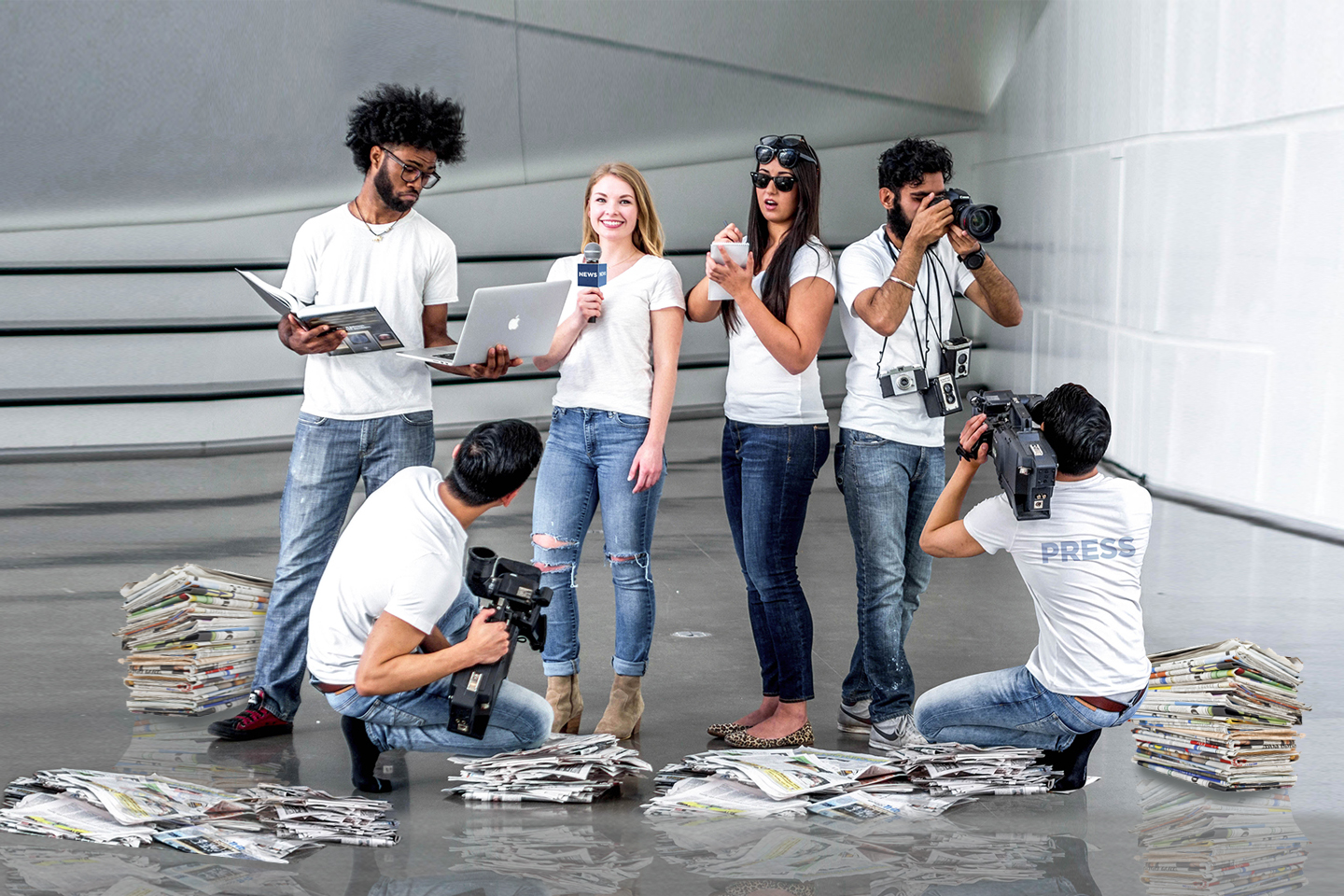 MSU ComArtSci Journalism students
