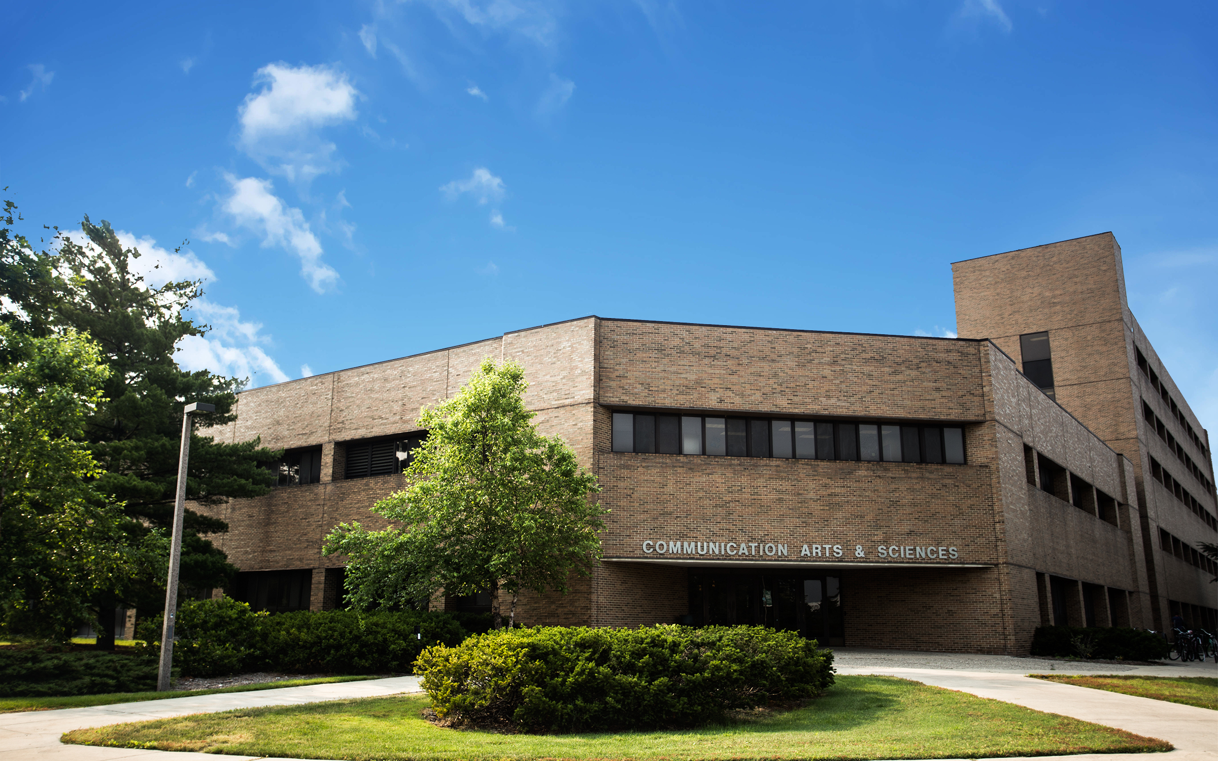 photo of brick, Communication Arts and Sciences Building