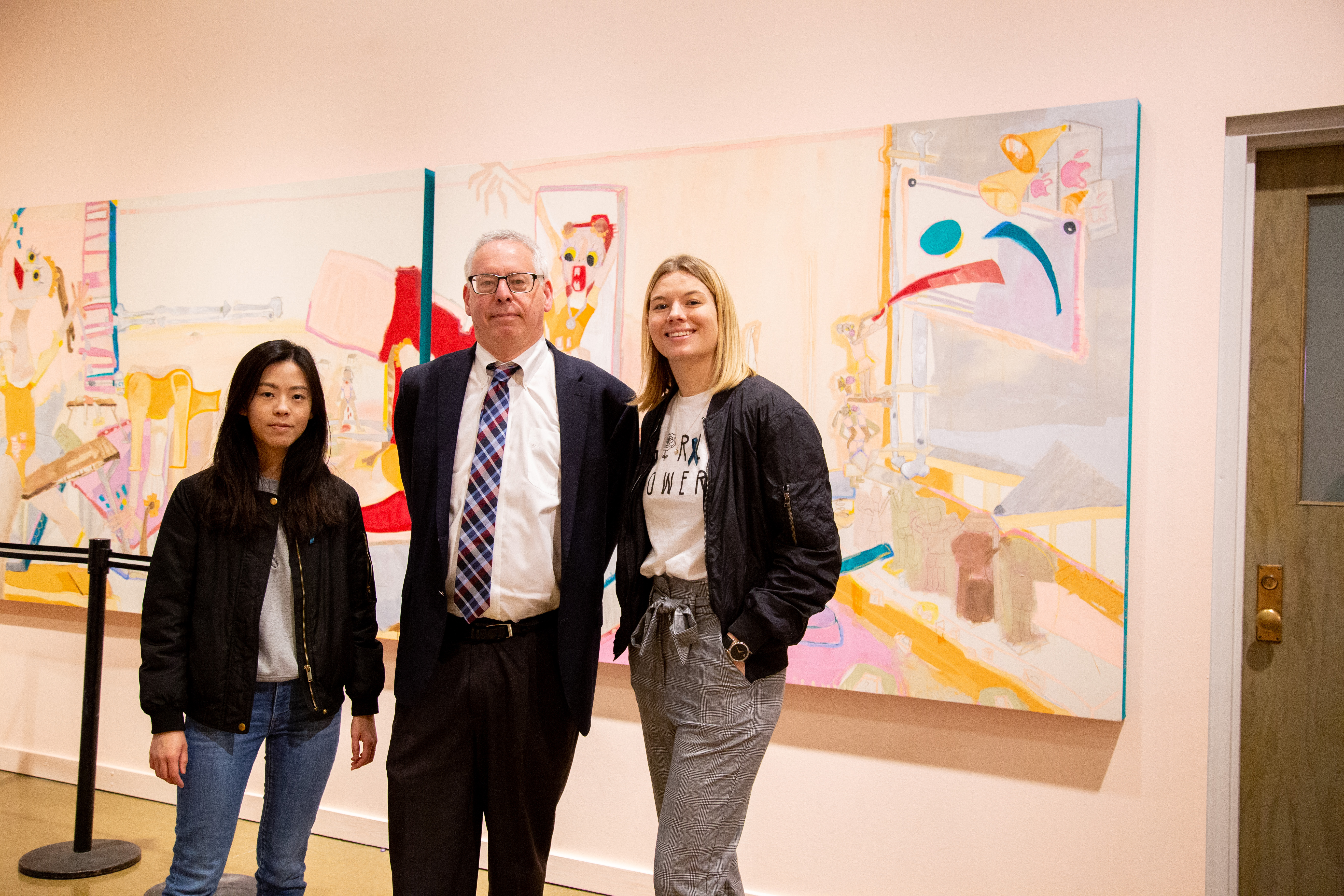 Photo of Tianyi Xie, Mark Auslander and Amanda McCafferty
