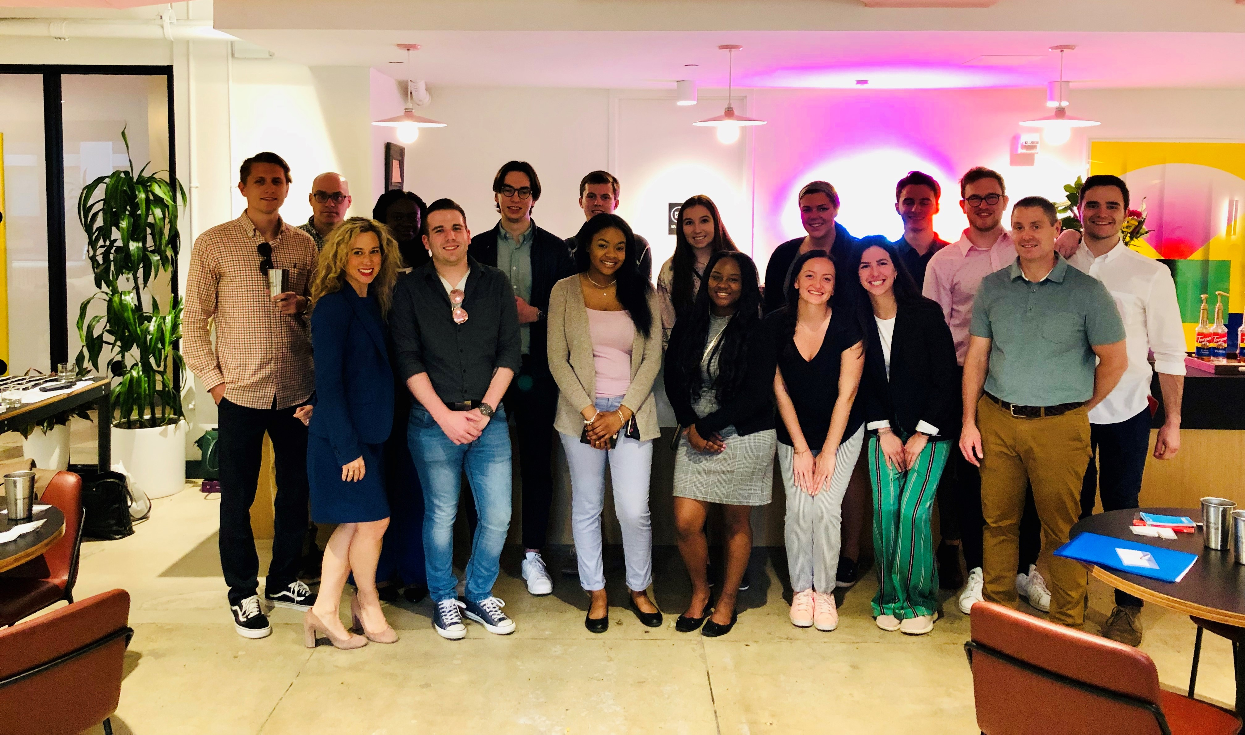 ComArtSci Field Experience Students at WeWork