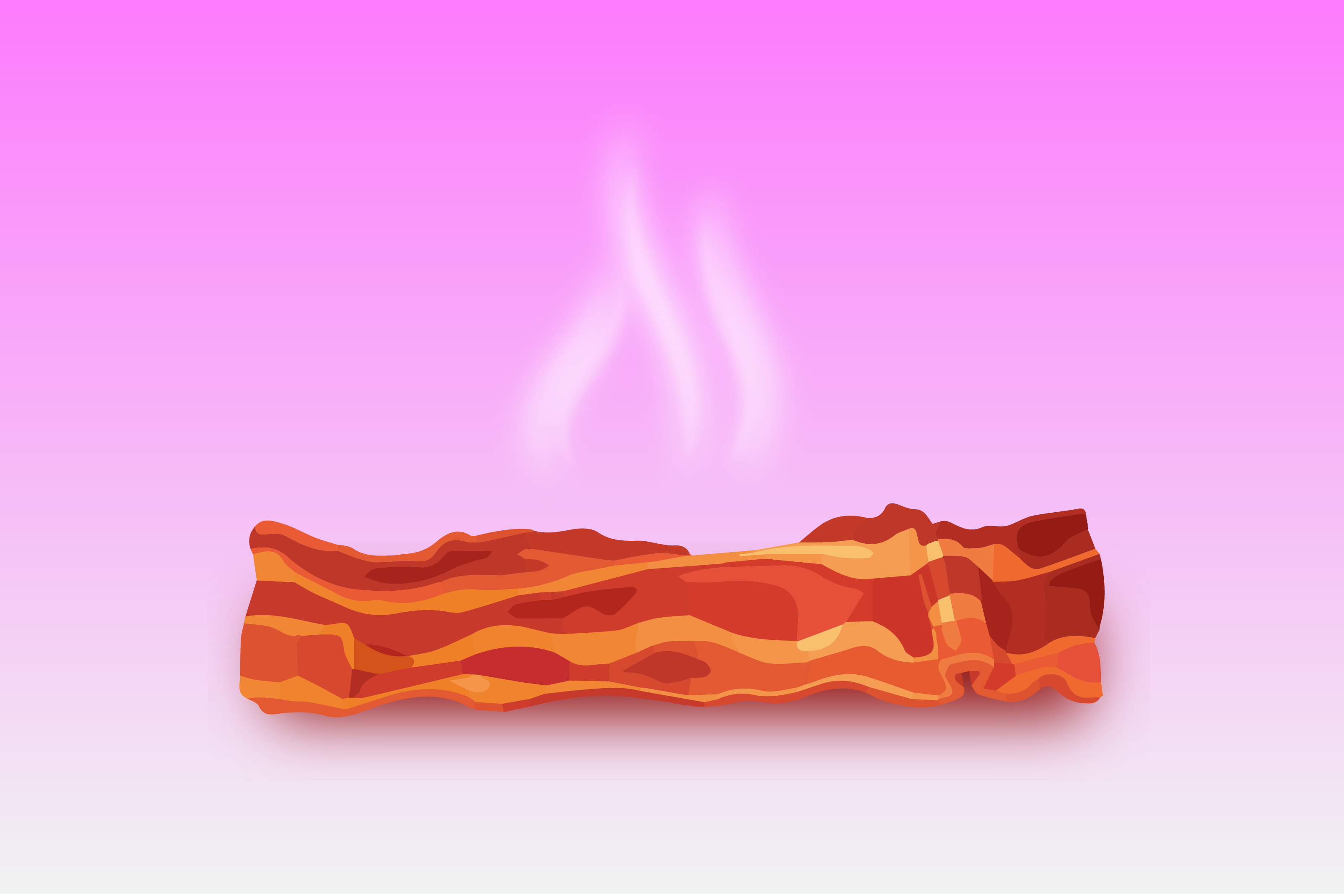 Graphic of Bacon with Steam