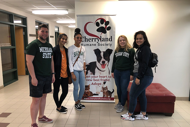 Group of students at Cherryland Humane Society