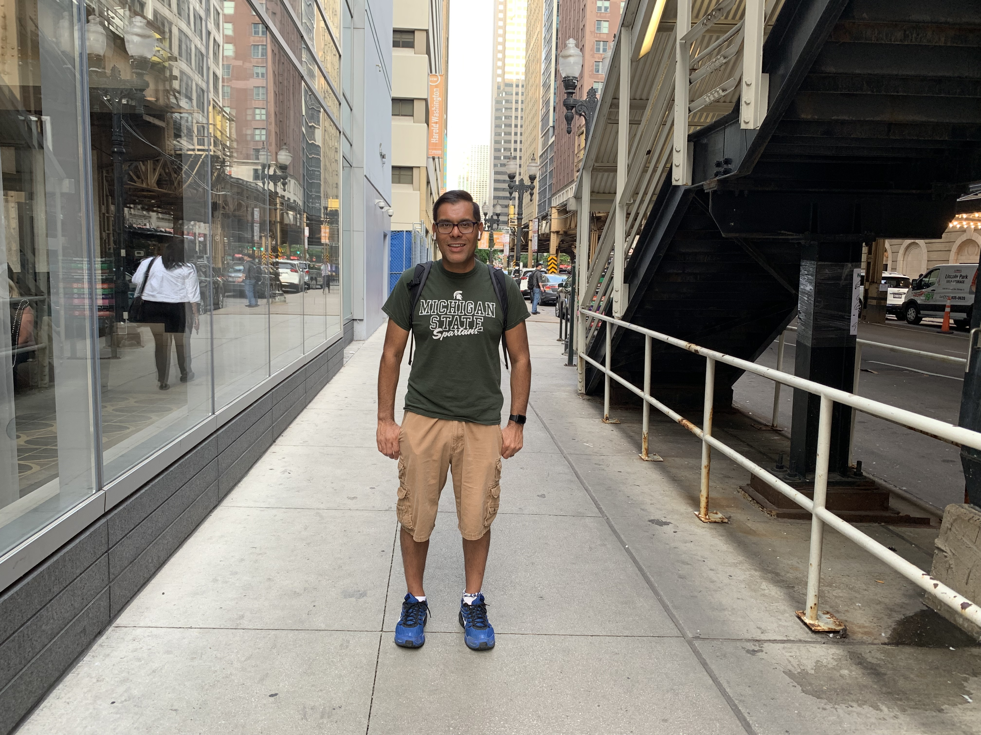 Photo of MSU StratCom student Marc Rodriguez in Chicago