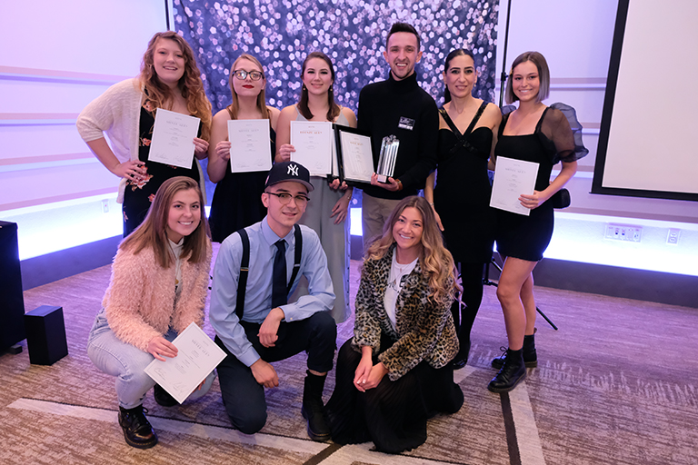 Photo of students at ADDY Awards Ceremony