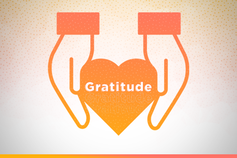 Graphic of hands giving gratitude