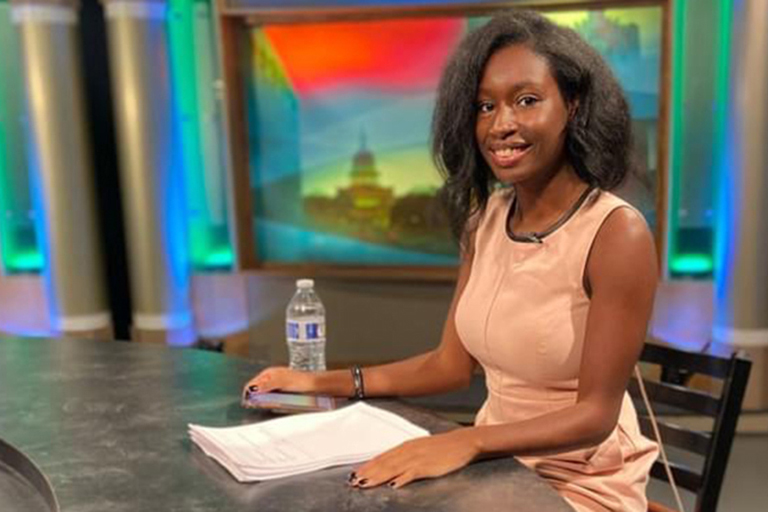 Folashade Moore is part of the School of Journalism's Focal Point broadcast news team.