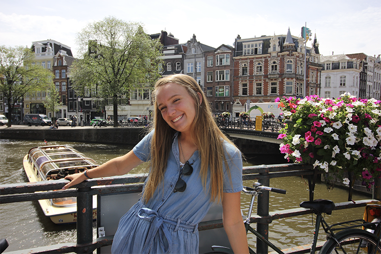 Madeline Davis on study abroad in Amsterdam