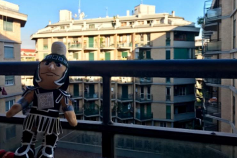 Sparty in Rome.