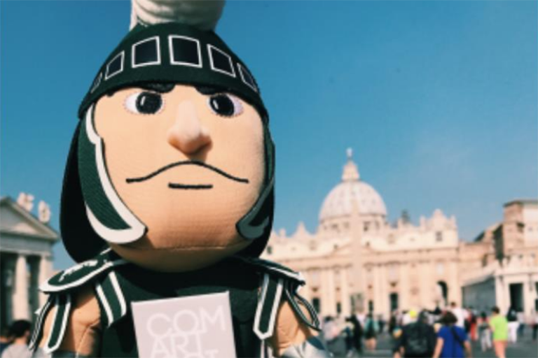Sparty at the Vatican.