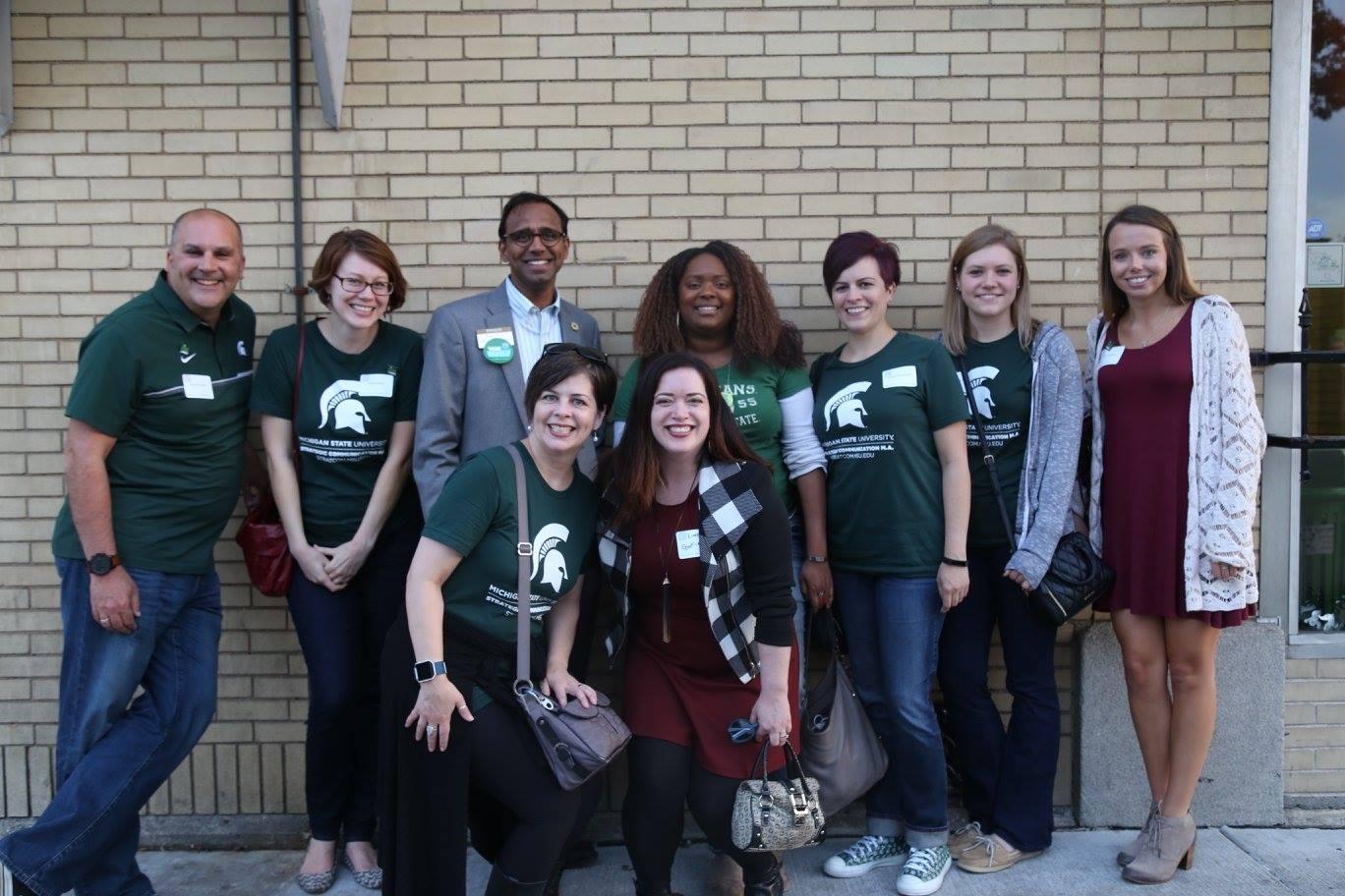 MSU StratCom Homecoming group photo
