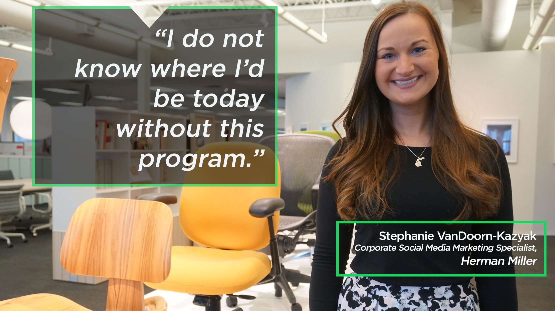 Stephanie VanDoorn-Kazyak's says she doesn't know where she'd be today without this program