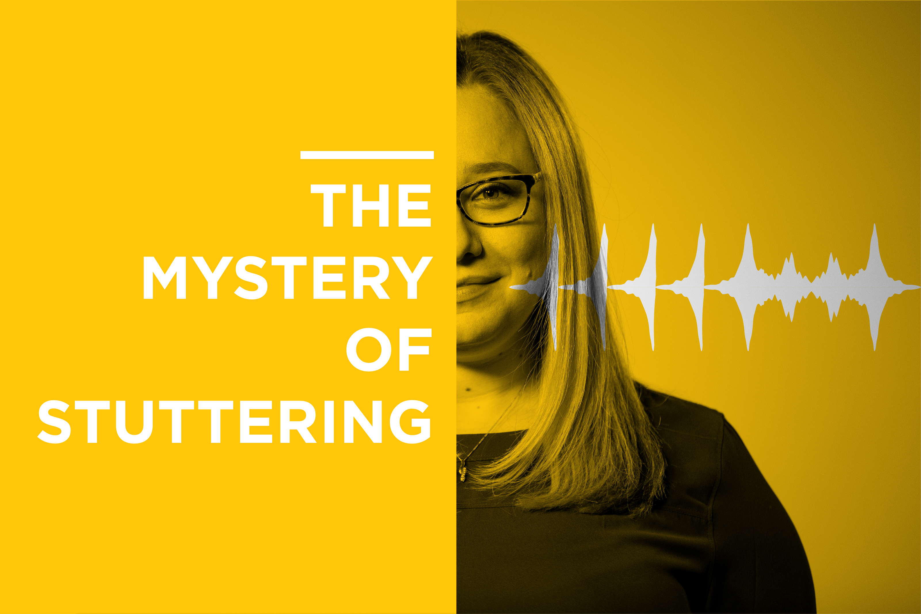 Graphic and Photo for The Mystery of Stuttering