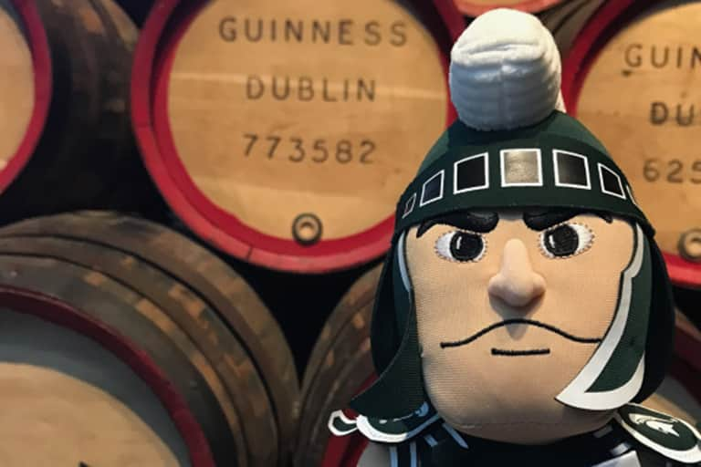Sparty at Guinness factory