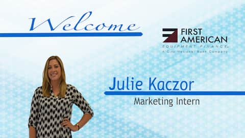 Julie Kaczor's business card at First American Finance.