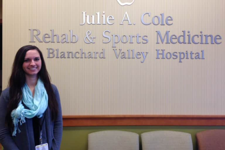 CSD Intern Kylie McIntyre at Blanchard Valley Hospital